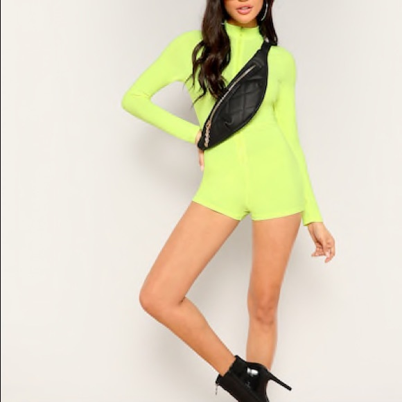 eea844dc2f81 Lime green bodysuit romper. M_5cb9fea4ffc2d4f3773dfd96